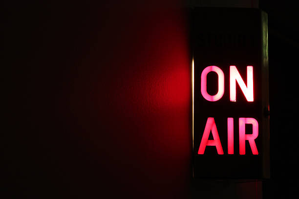 On Air Sign  mid air stock pictures, royalty-free photos & images