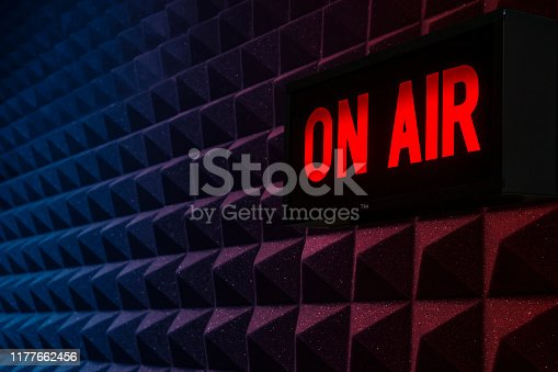 On air sign background