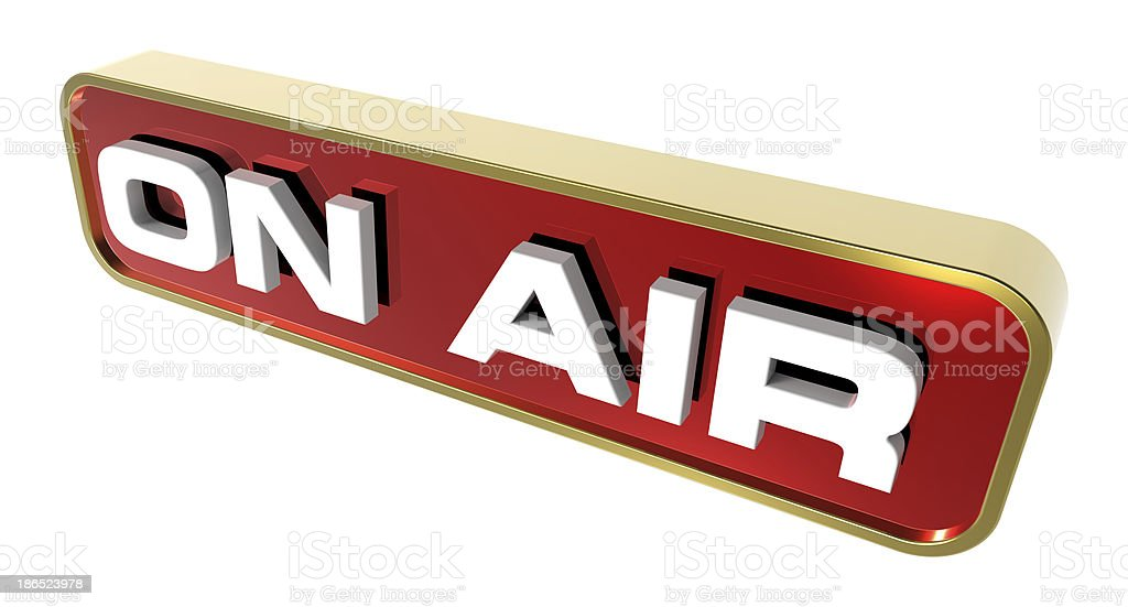 'On Air' sign royalty-free stock photo