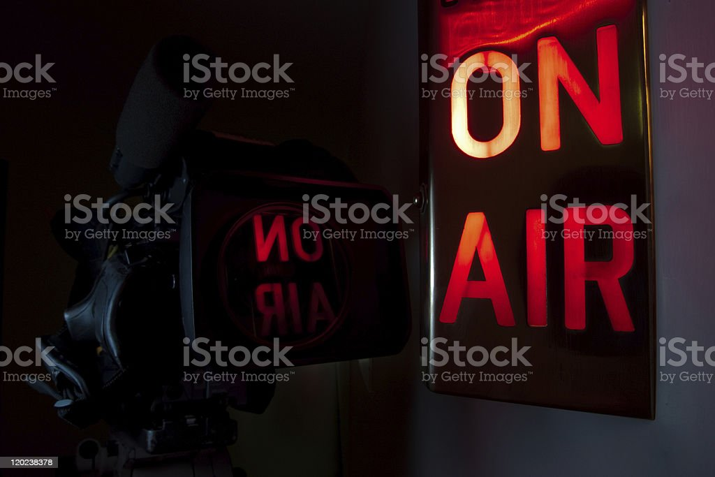 On Air Television Camera stock photo