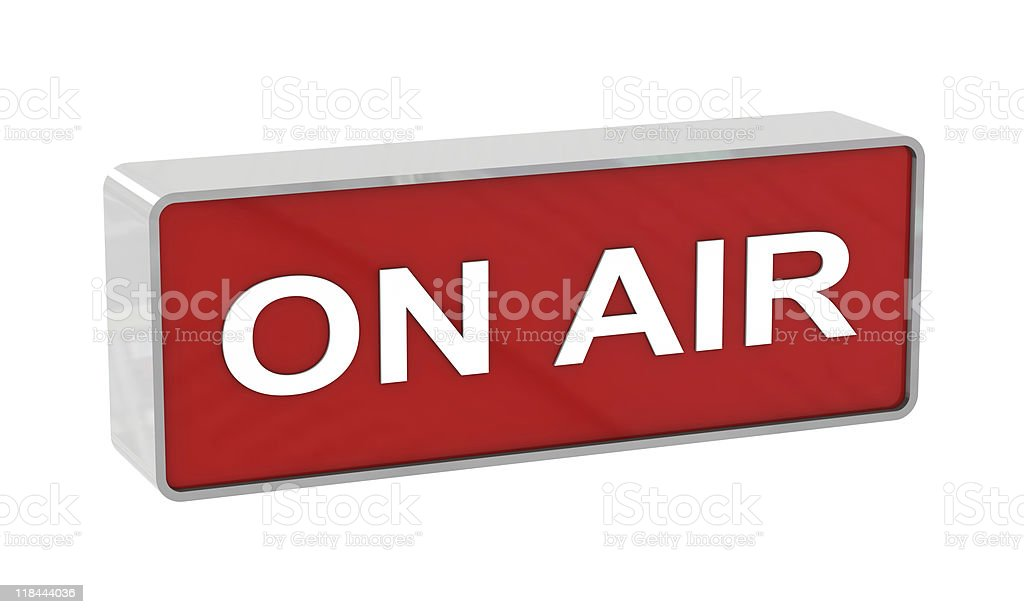 On air warning royalty-free stock photo