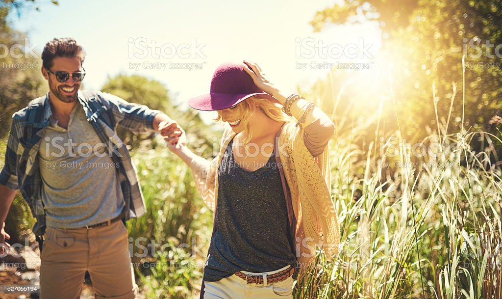 On an awesome outdoor adventure stock photo