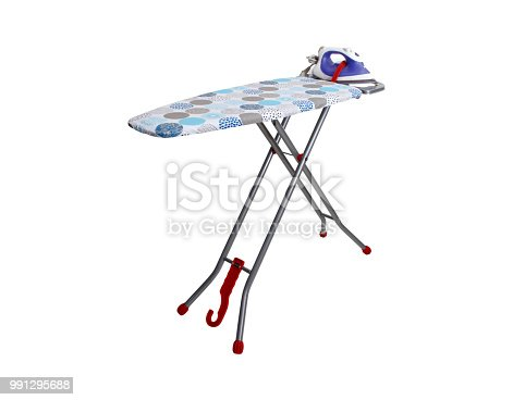 istock On an ironing board iron. 991295688