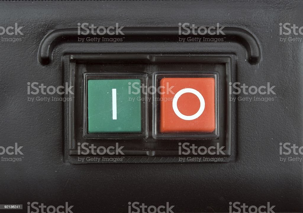 On And Off Buttons royalty-free stock photo