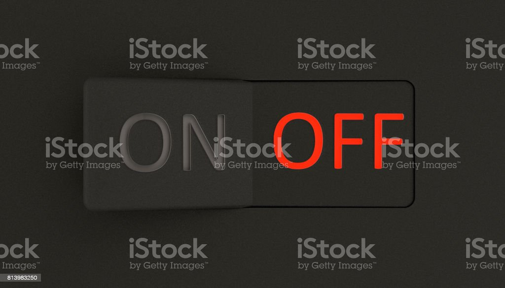 On and Off switch stock photo