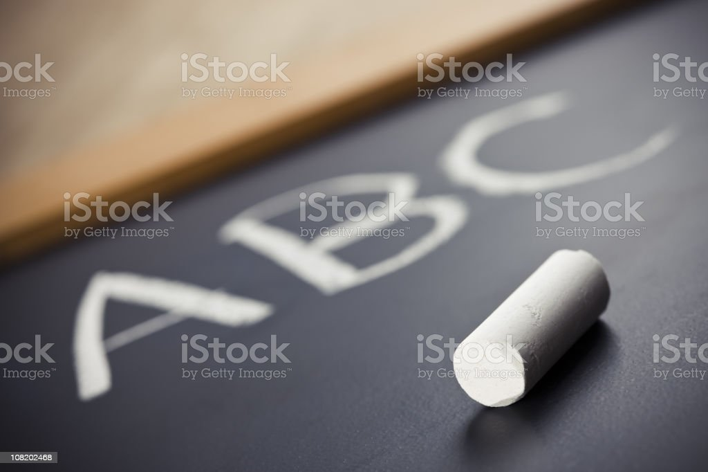 ABC on chalkboard royalty-free stock photo