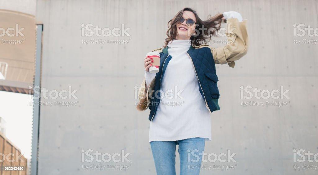 Op koffiepauze royalty free stockfoto
