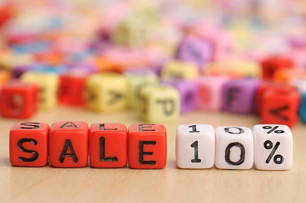 Verkauf 10 % auf bunte Dices – Foto