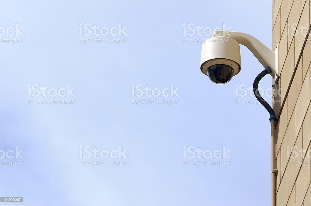 CCTV on corner of building royalty-free stock photo