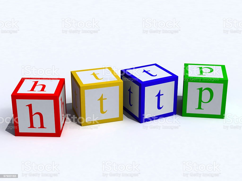 HTTP on cubes royalty-free stock photo