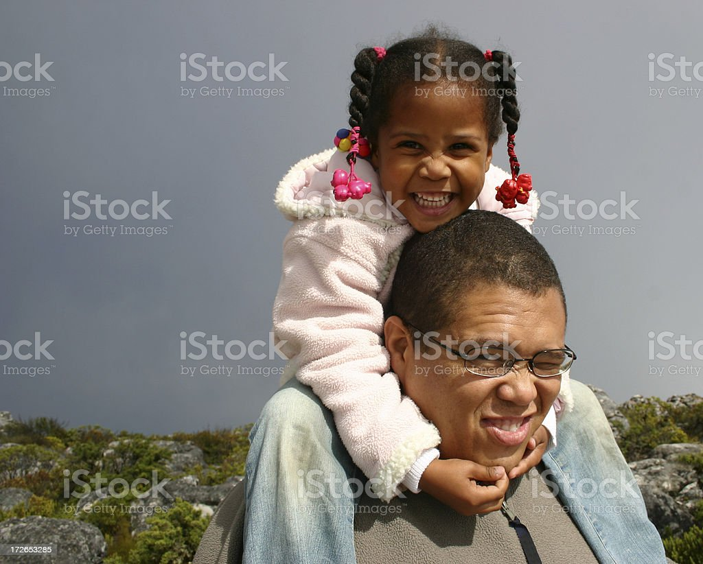 On daddies shoulder royalty-free stock photo