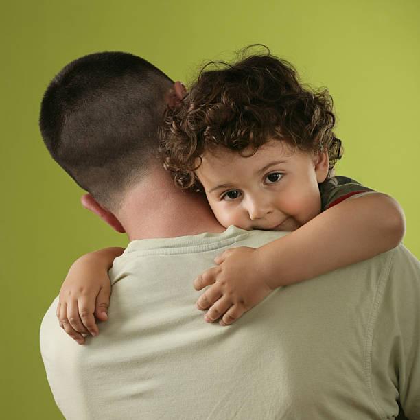 On Dad's Shoulder