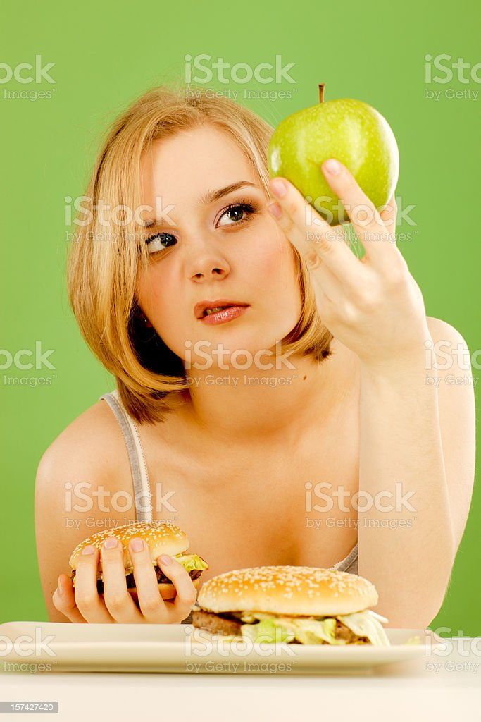On diet again royalty-free stock photo