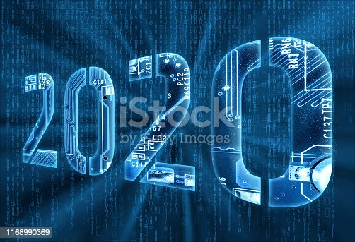 istock 2020 on digital background 1168990369