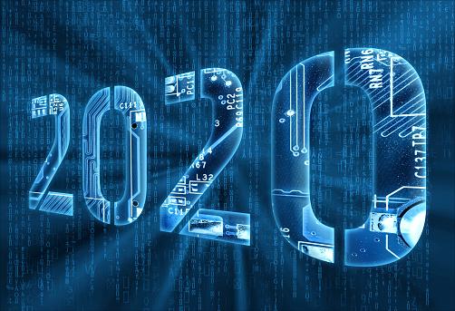 istock 2020 on digital background 1168990369