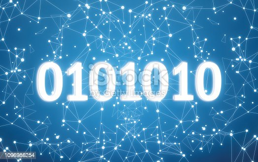 882141812istockphoto 0101010 on digital interface and blue network background 1096986254