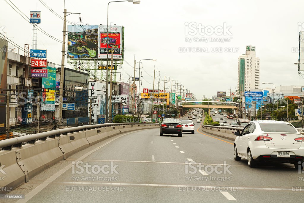 On elevated road royalty-free stock photo