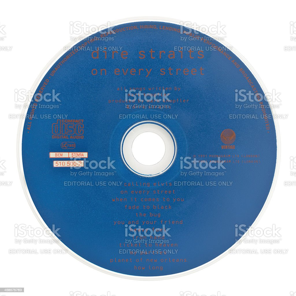On every street CD by the Dire Straits stock photo