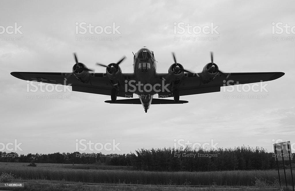 B- 17 G sul finale - foto stock