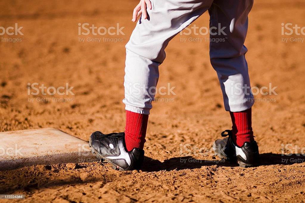 On First Base royalty-free stock photo