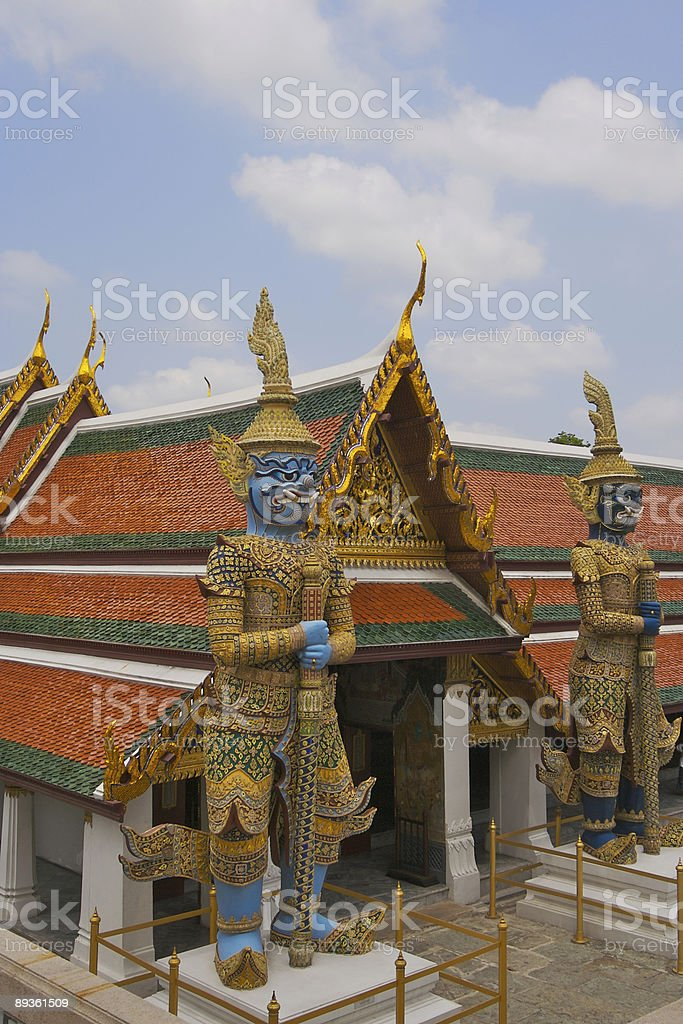 On Guard at the Grand Palace stock photo