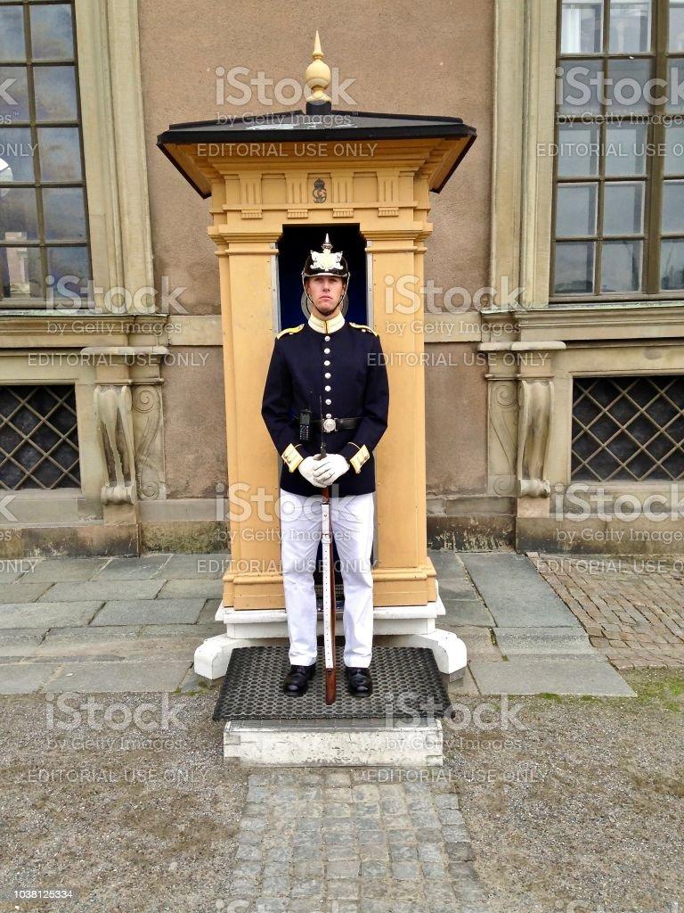 On Guard - Royal Palace Stockholm stock photo