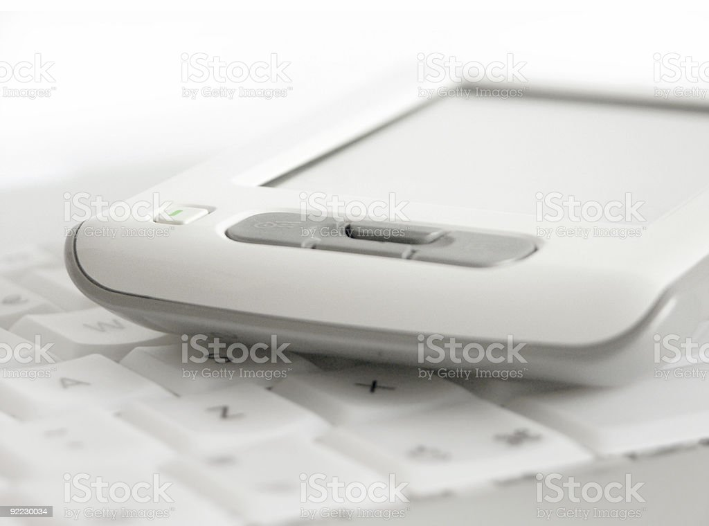 PDA on Keyboard 02 royalty-free stock photo