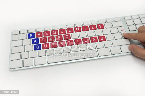 istock FREQUENTLY ASKED QUESTIONS on Keyboard 636160378