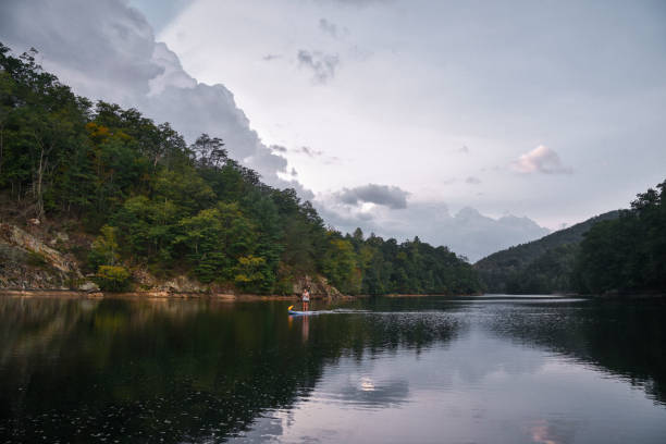 SUP auf See in North Carolina – Foto
