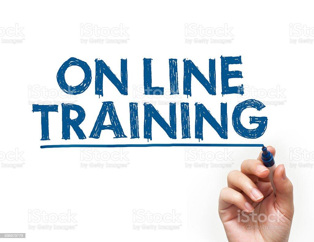 On line training / Felt tip pen (Click for more) stock photo