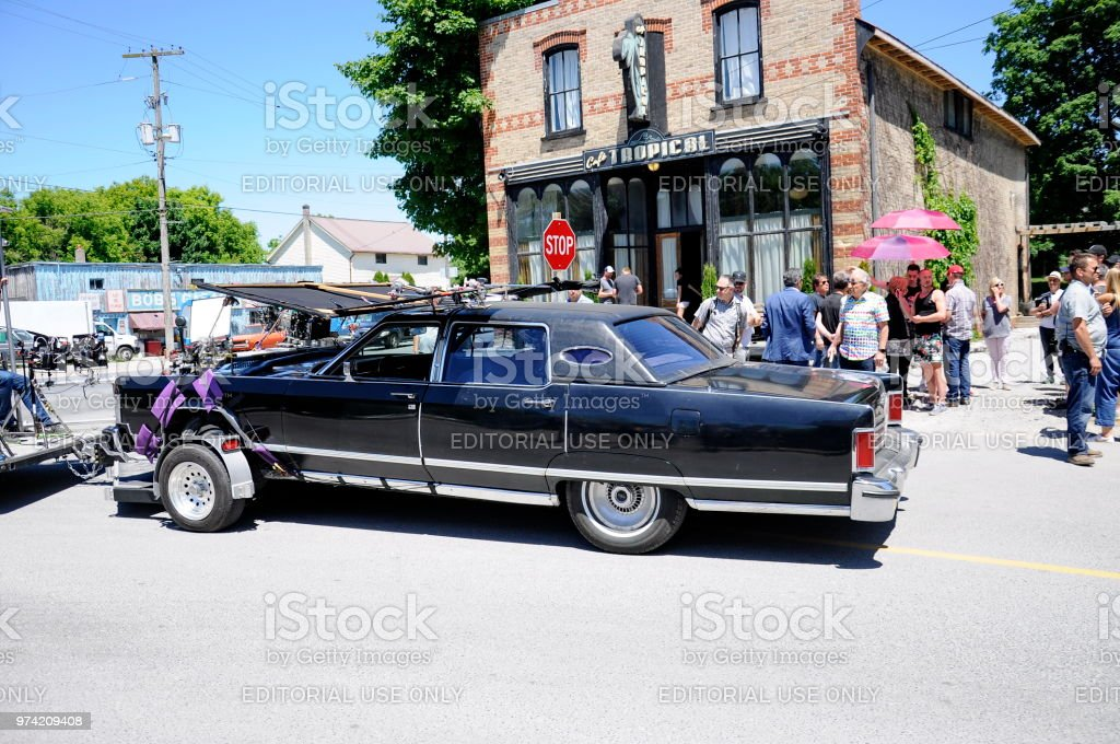 On location filming featuring \'Johnny\'s Car\' near Cafe Tropical a...