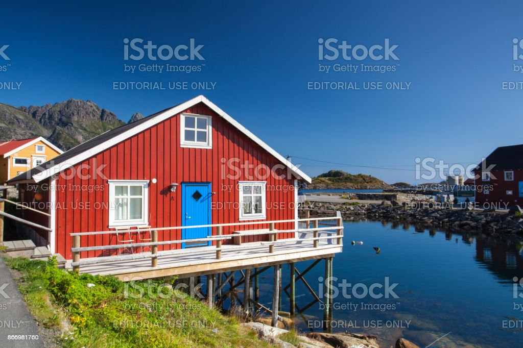 On Lofoten islands stock photo
