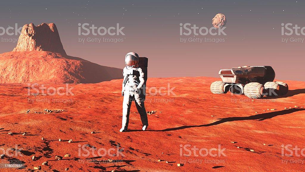 on mars stock photo