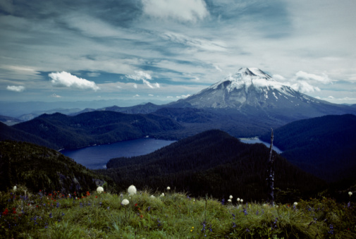Mount Saint Helens And Spirit Lake Before The Eruption Stock Photo - Download Image Now