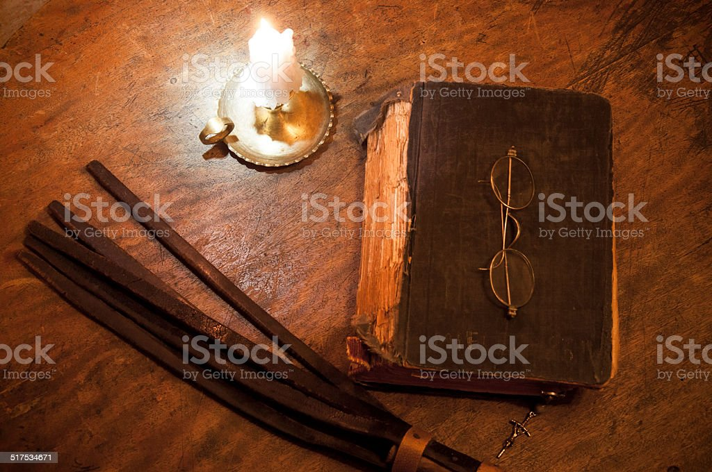 Groovy On Monks Table Stock Photo More Pictures Of Bible Istock Interior Design Ideas Ghosoteloinfo