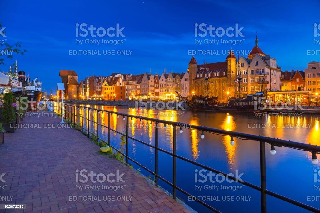 SS SOLDEK on Motlawa river in Gdansk stock photo