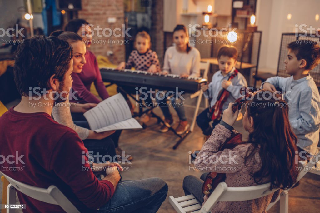 On music school class stock photo