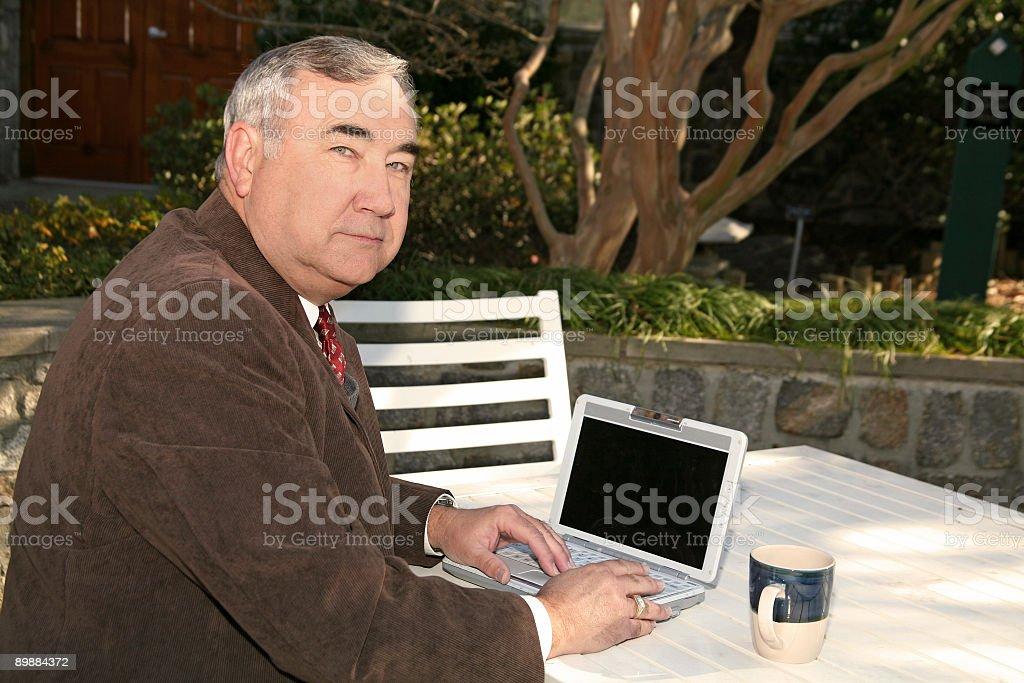 On My Laptop royalty-free stock photo