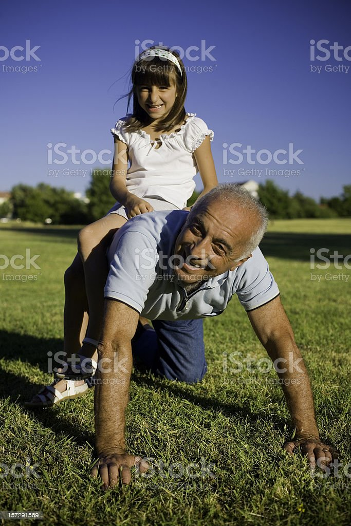 On my shoulders royalty-free stock photo
