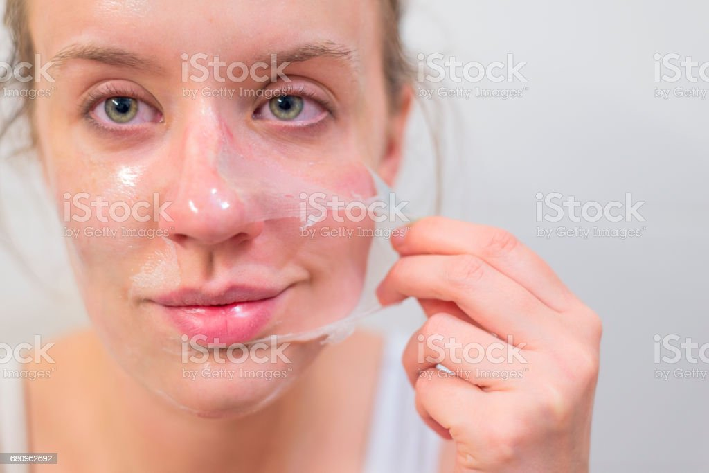 On my way to beautiful and soft skin royalty-free stock photo