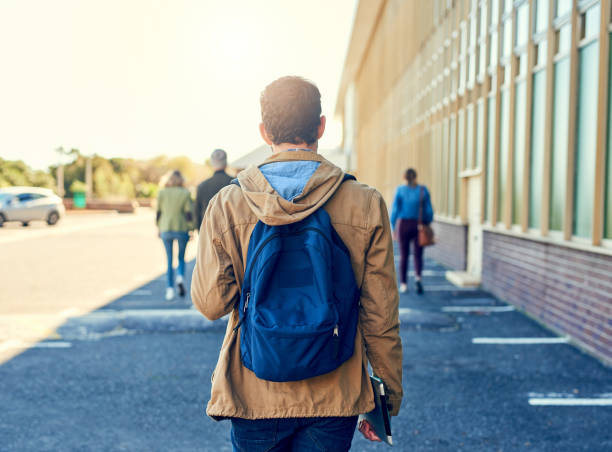 On my way to class stock photo