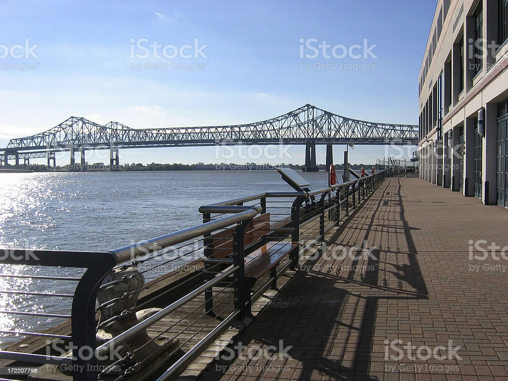 AM on New Orleans Riverwalk, View 3 royalty-free stock photo