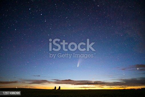 C/2020 F3 (NEOWISE) on north Saskatchewan, Canada.