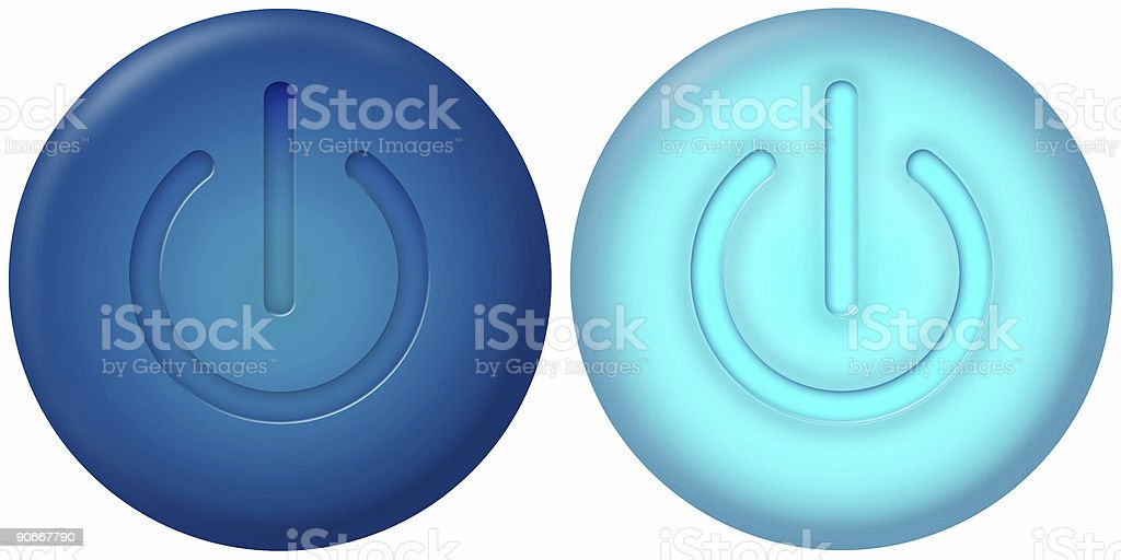 On Off buttons royalty-free stock photo