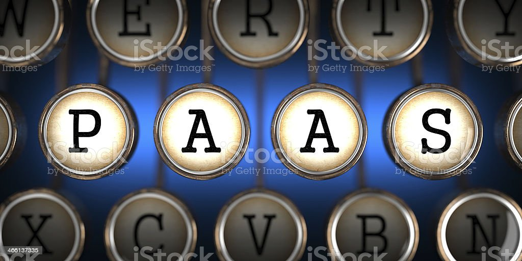 PAAS on Old Typewriter's Keys. stock photo