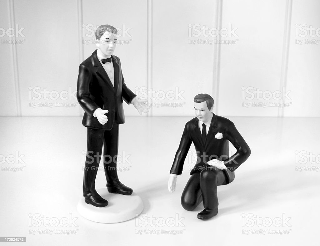 On one knee royalty-free stock photo