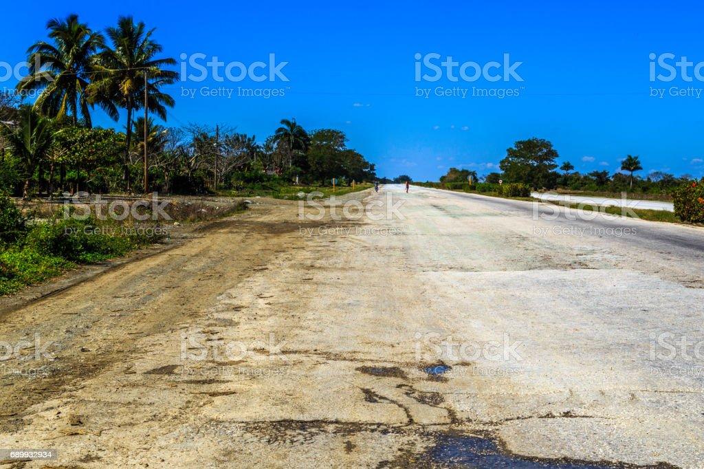 On our way through Cuba stock photo
