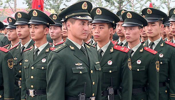 on parade - chinese military bildbanksfoton och bilder
