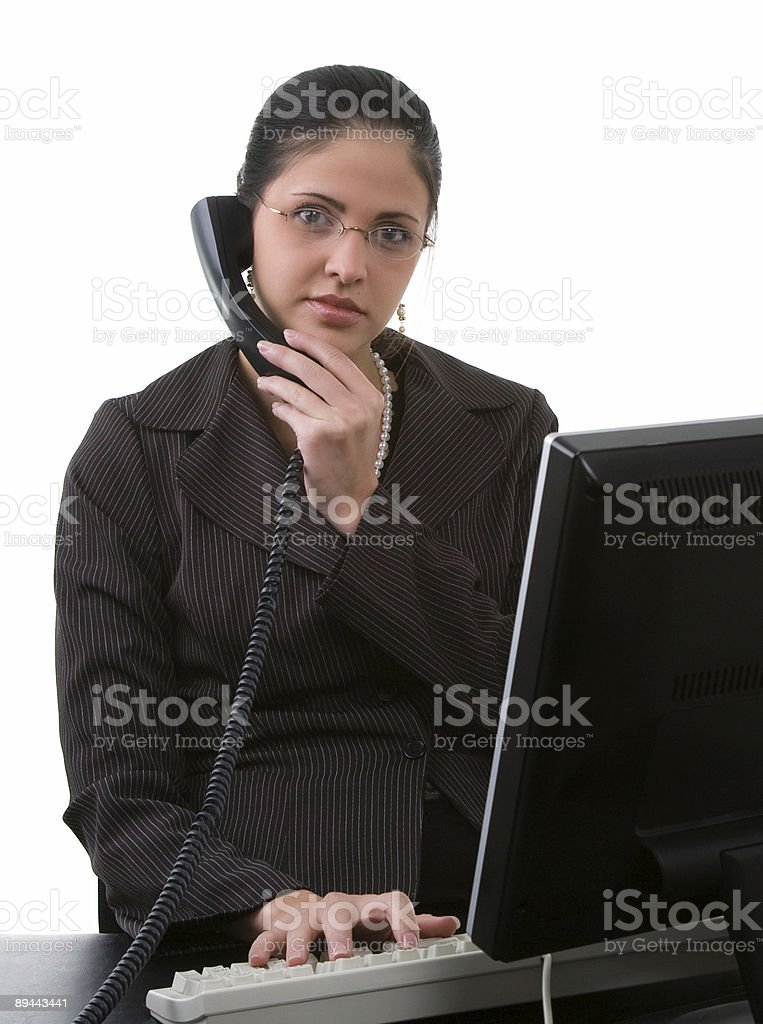 On Phone royalty-free stock photo