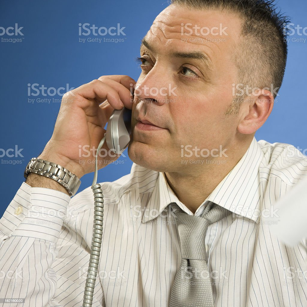 On phone - the businessman, a portrait royalty-free stock photo
